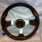 MadJax Custom Wood Grain Steering Wheel