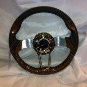 MadJax Custom Wood Grain Volt Steering Wheel