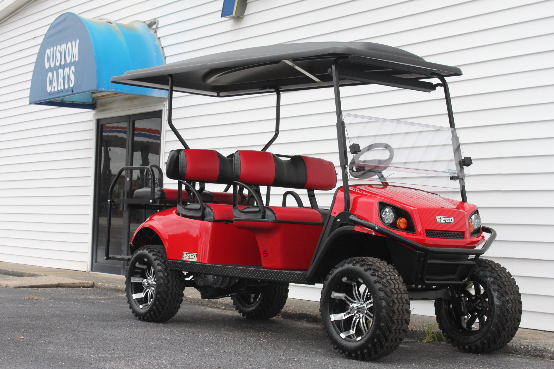 STOCK# 2019REDL6, 2019 E-Z-GO L6 EXPRESS GAS GOLF CART
