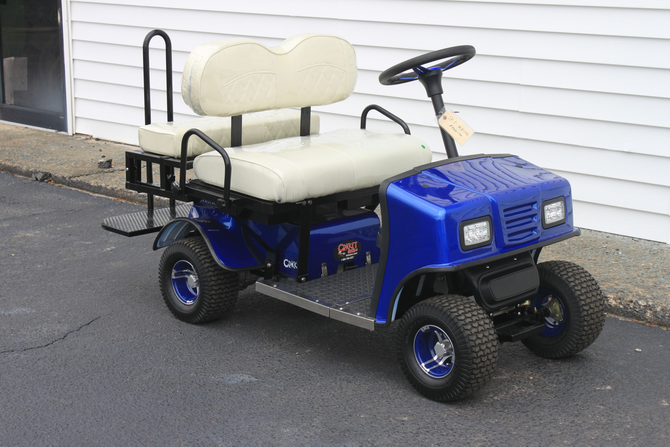 STOCK# BLU-SX-WHT,  2019 CRICKET SX-3 MINI 36 VT GOLF CART