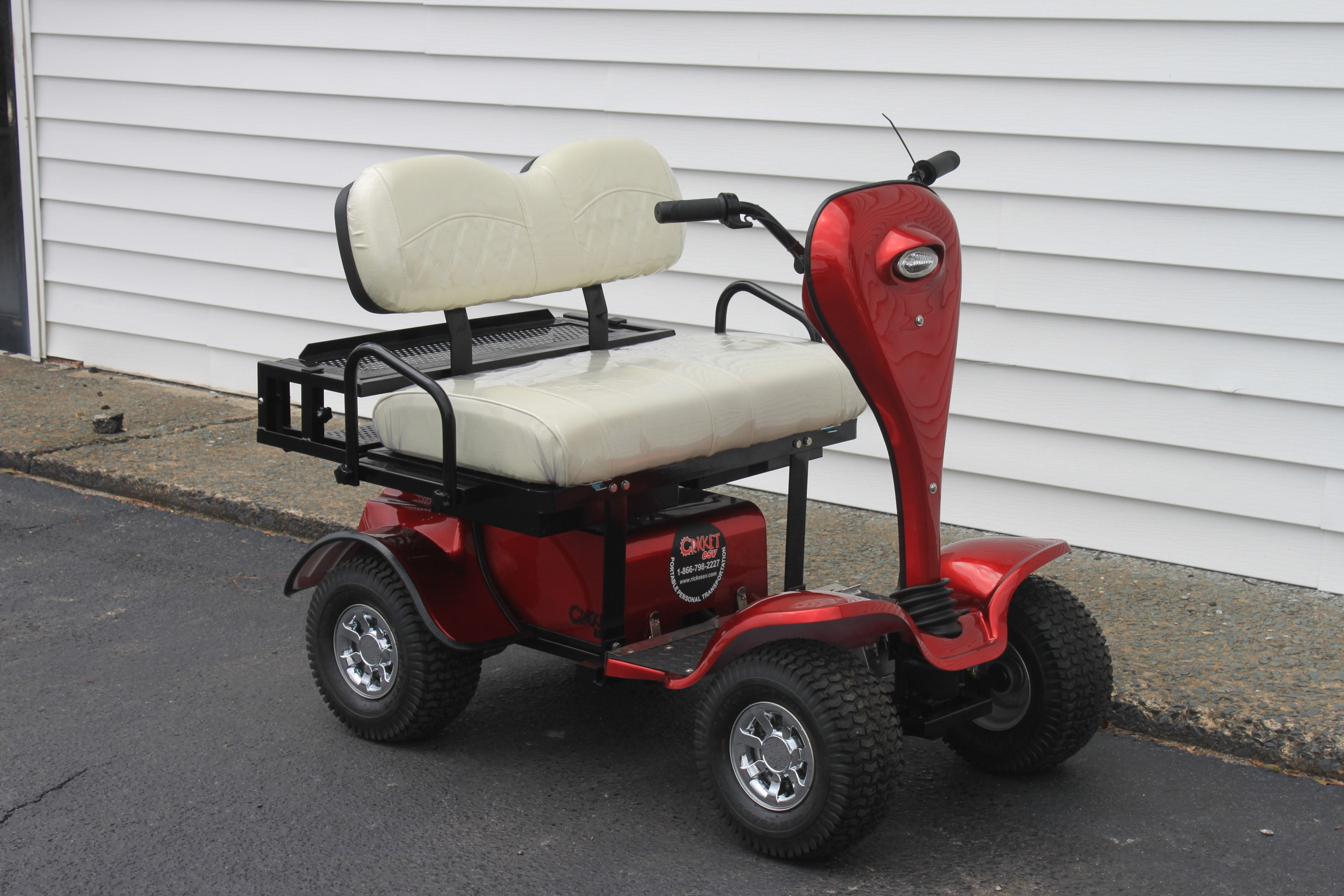 STOCK# CR-ESV-WHT, 2019 CRICKET ESV MINI 24 VT GOLF CART