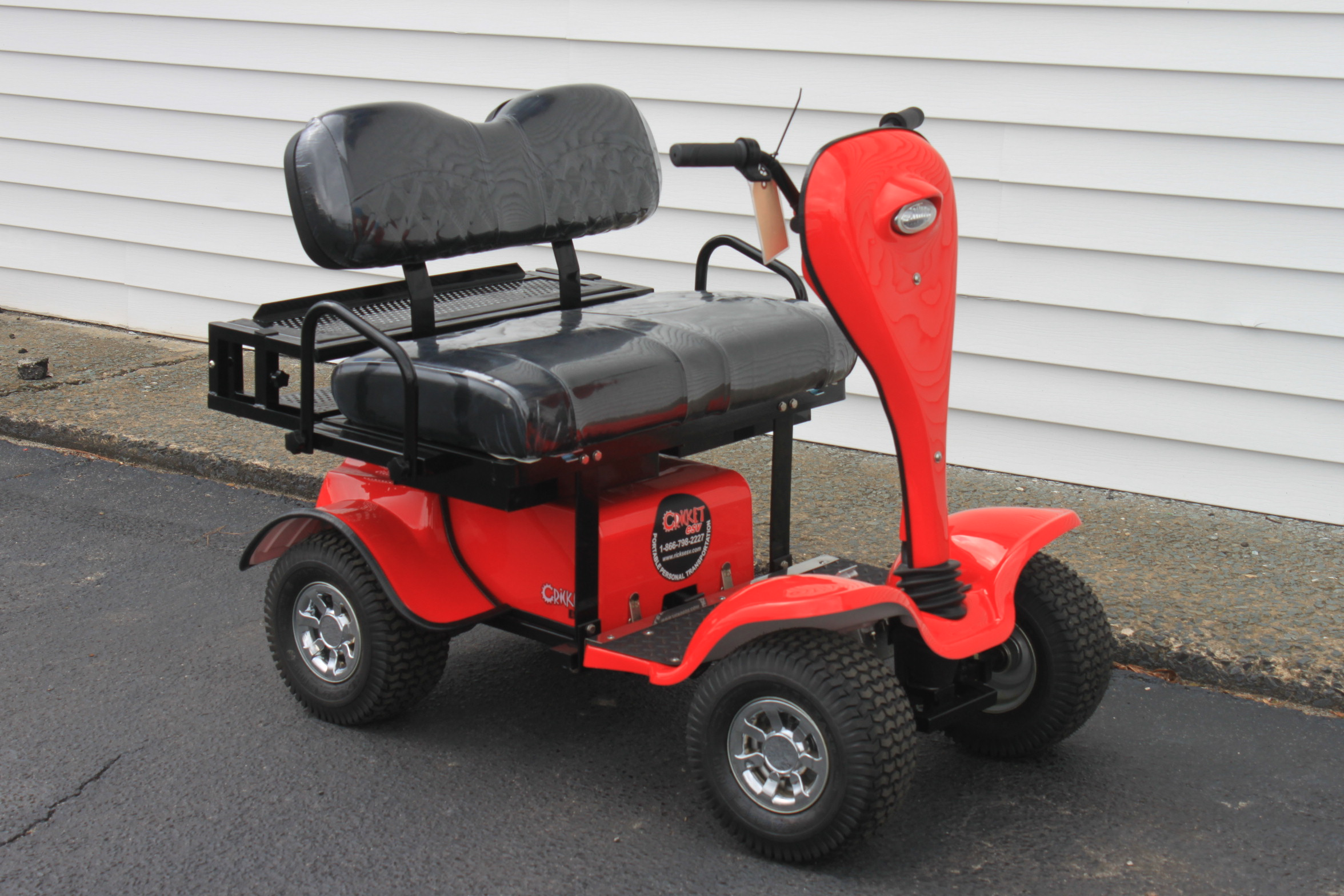 STOCK# RED-ESV-BLK, 2019 CRICKET ESV MINI 24 VT GOLF CART