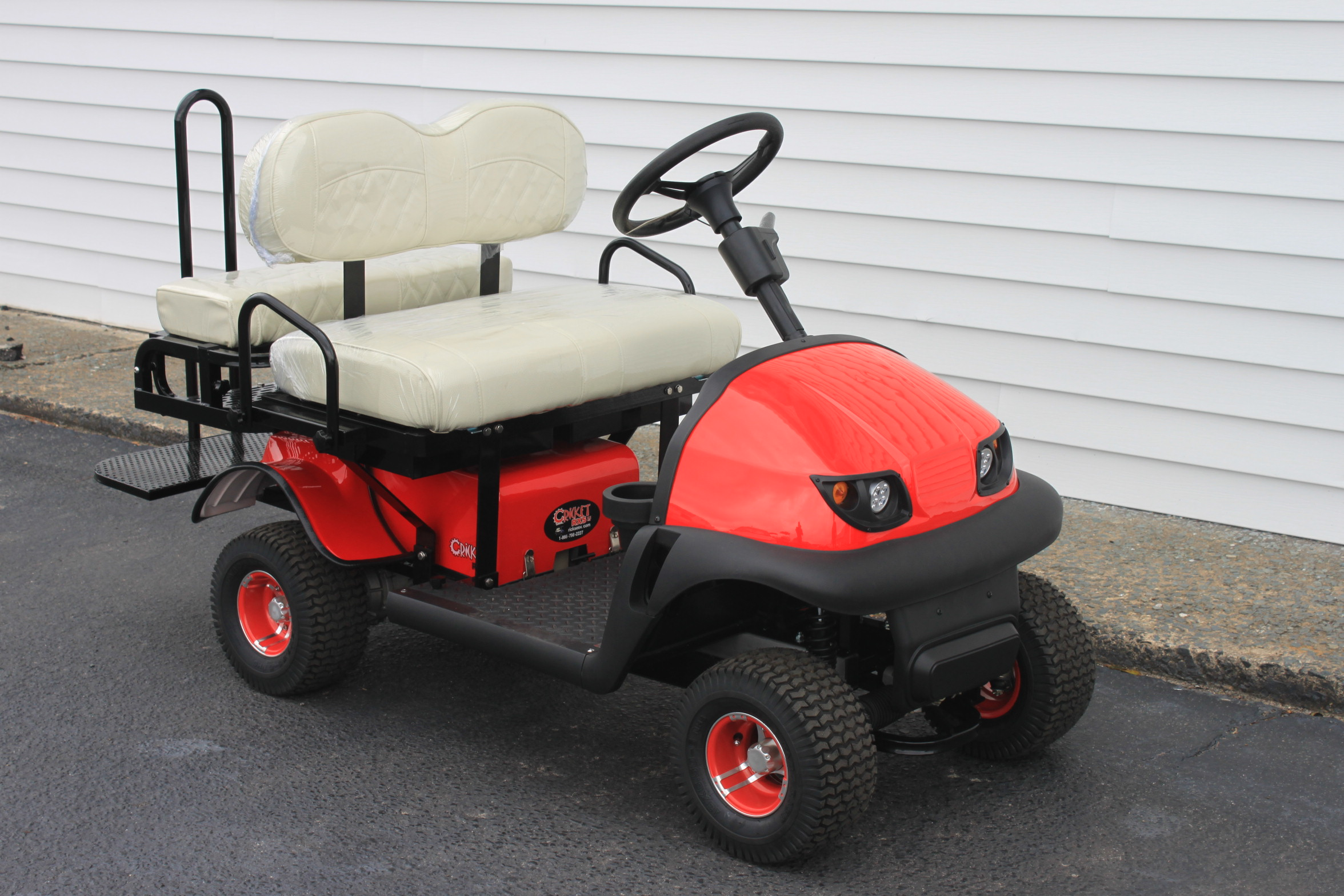 STOCK# RED-RX-WHT, 2019 CRICKET RX-5 MINI, 36 VT GOLF CART