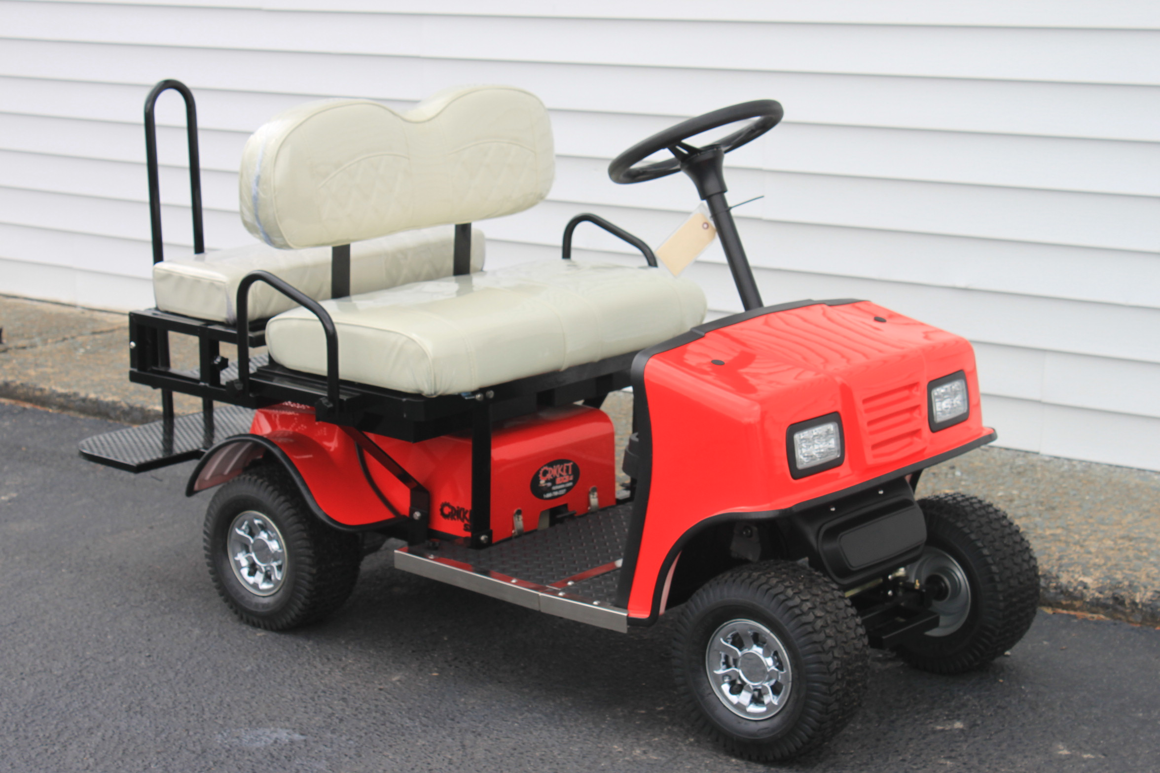 STOCK# RED-SX-WHT, 2019 CRICKET SX-3 MINI 36 VT GOLF CART