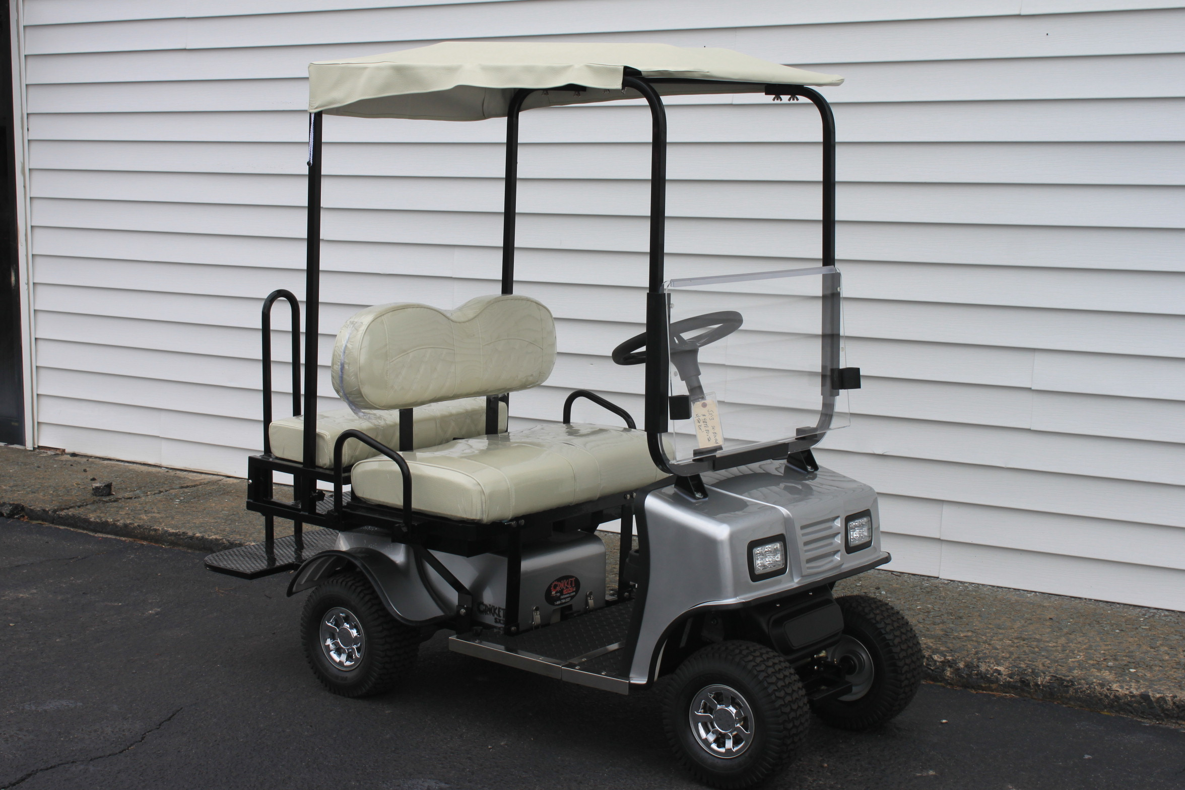 STOCK# SIL-SX-WHT-TOP,  2019 CRICKET SX-3 MINI 36 VT GOLF CART