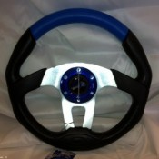MadJax Custom Blue Steering Wheel