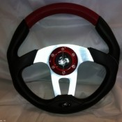 MadJax Custom Red Steering Wheel