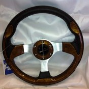 MadJax Custom Wood Grain Steering Wheel