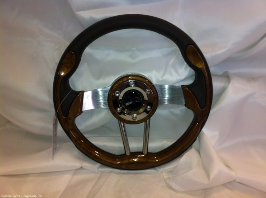 MadJax Custom Wood Grain Volt Steering Wheel